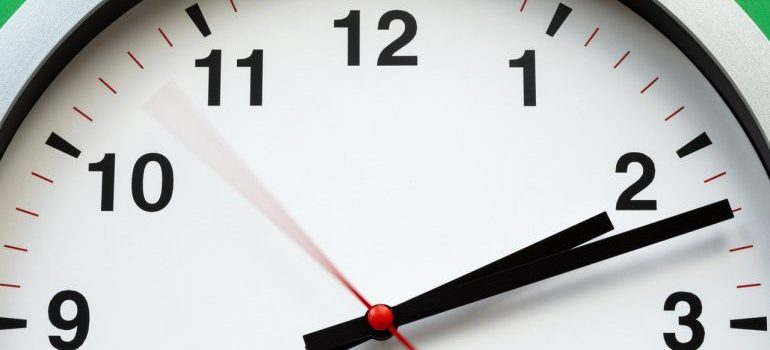 a clock showing time
