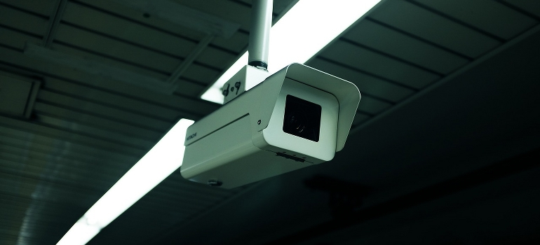 A white camera